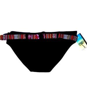3/$20 BALTEX Black Belted Swim Bikini Bottom S:12